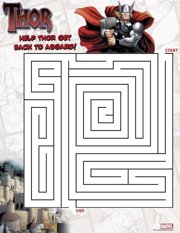 Superhero Printables Thor Party