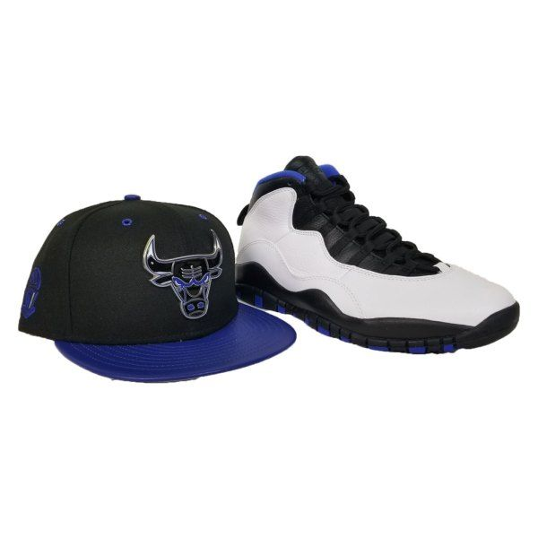 Matching New Era Metal Chicago Bulls Snapback hat for Jordan 10 Orlando ba8eab1dfd2f
