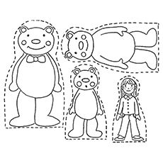 coloring pages the three bears | Top 10 Free Printable Goldilocks And The Three Bears ...