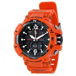 Casio Gravitymaster Black Dial Orange Band Men's Watch GWA1100R-4ACR