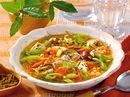 Linsen-Lauch-Eintopf mit Curry-Huhn
