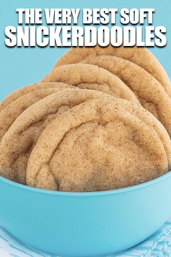 Das beste SNICKERDOODLE-REZEPT aller Zeiten! Perfekte, zähe, weiche Snickerdoodles. #snicke …