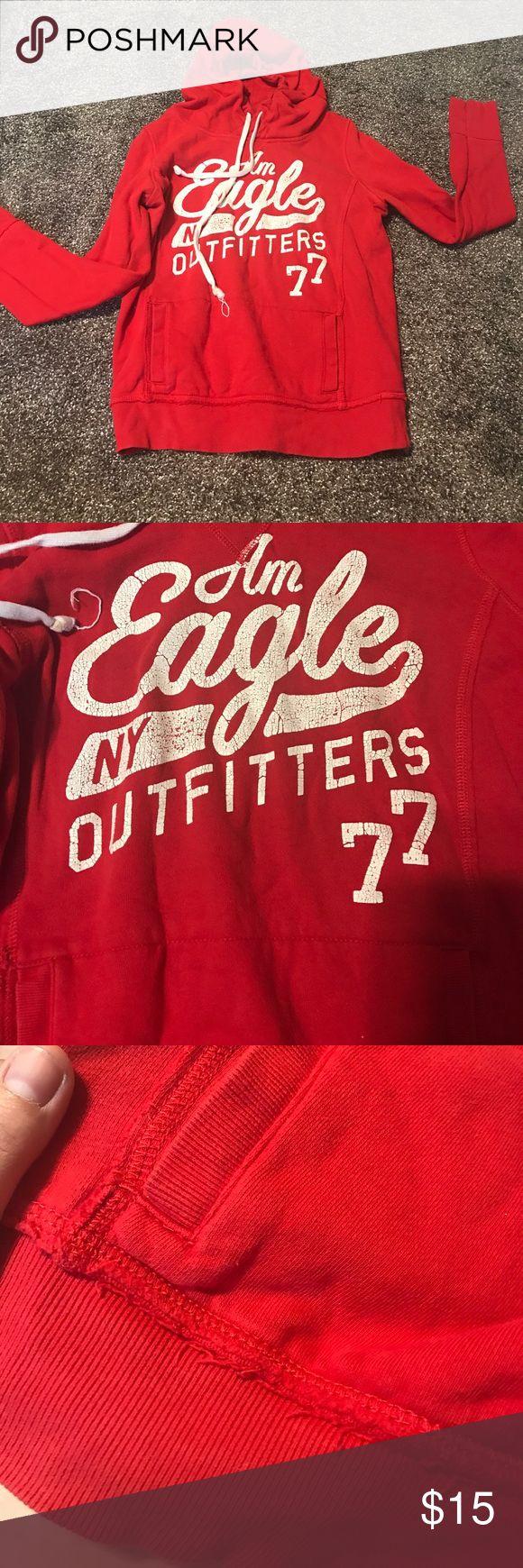 Distressed American Eagle sweatshirt Distressed American Eagle sweatshirt American Eagle Outfitters Tops Sweatshirts & Hoodies