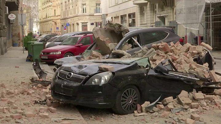 Earthquake Rocks Croatia S Capital Zagreb Croatia Earthquake Zagreb