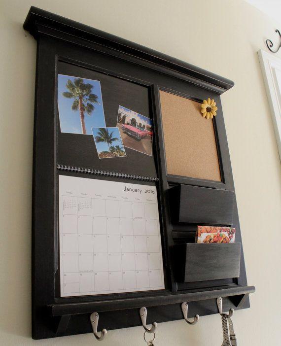 Shutterfly Calendar Family Calendar Frame Mail Organizer Double Pocket Calendar Frame Organizer Bulletin Board Cork or Chalkboard