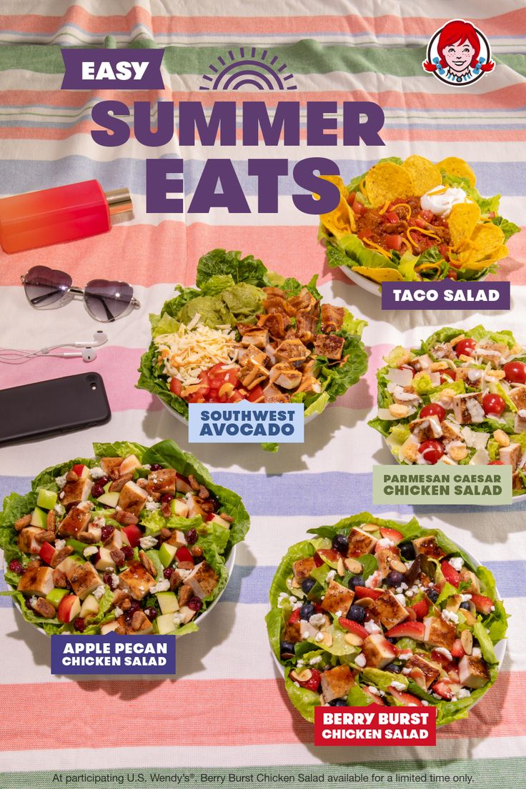Wendy's salad lineup is a summertime crowdpleaser. Try