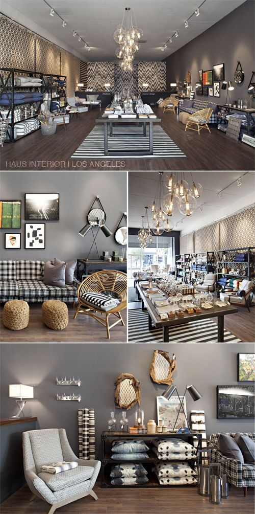 love the black & white plaid with the gray walls