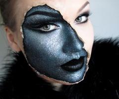 pretty coolFace Makeup, Fantasy Makeup, Costumes Makeup, Halloween Costumes, Halloween Makeup, Makeup Looks, Halloween Ideas, Special Effects, Halloweenmakeup