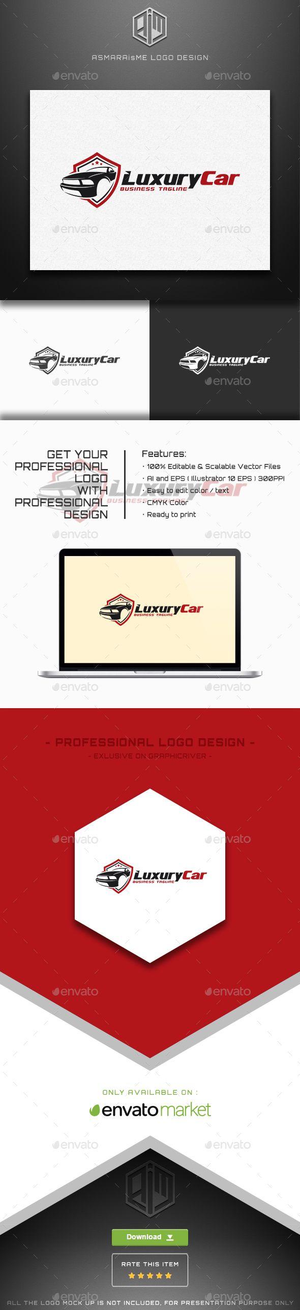 Car body sticker design eps - Luxury Car Logo