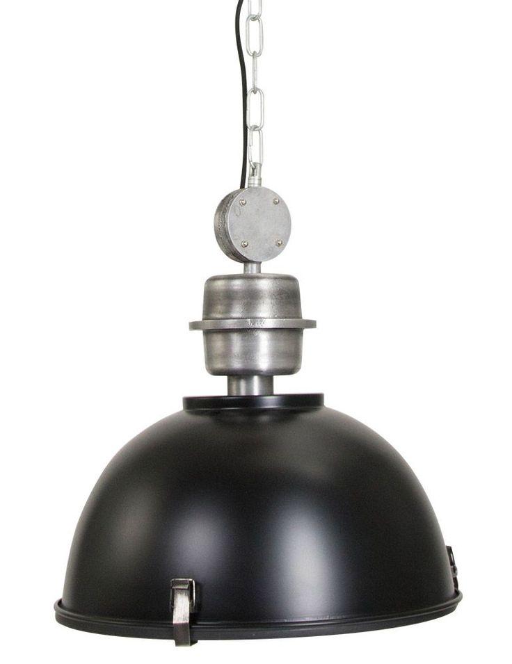 Hanglamp Bikkel Ø 42 cm  Een stoere metalen hanglamp met industriële uitstraling is een stijlvolle toevoeging voor ieder interieur. Hanglamp Bikkel uit de collectie van Steinhauer heeft een metalen lampenkap in zwart met een E27 fitting geschikt voor een lamp van maximaal 60 Watt. Je hangt de lamp aan het plafond op aan de metalen ketting en hij wordt geleverd exclusief lichtbron.  EUR 139.95  Meer informatie  #Woonboulevard #poortvliet