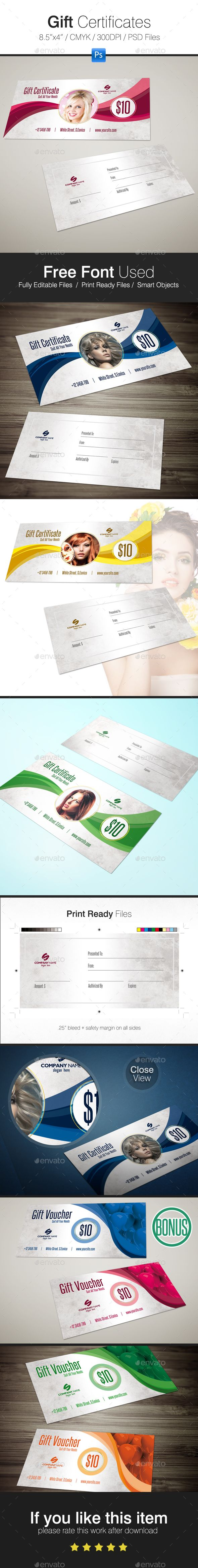 Gift Certificates + BONUS - Cards & Invites Print Templates Download: https://graphicriver.net/item/gift-voucher/19171392