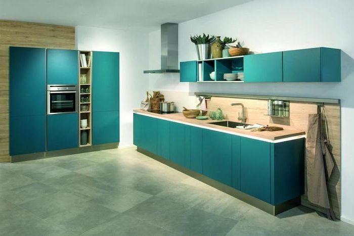 the 25 best cuisine bleu canard ideas on pinterest vert canard peinture bleu canard and. Black Bedroom Furniture Sets. Home Design Ideas