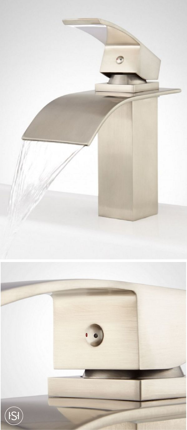 This Belmore Bathroom Faucet in a brushed nickel finish isn't just any old waterfall faucet—think of it as the final puzzle piece to the modern bathroom makeover of your dreams!