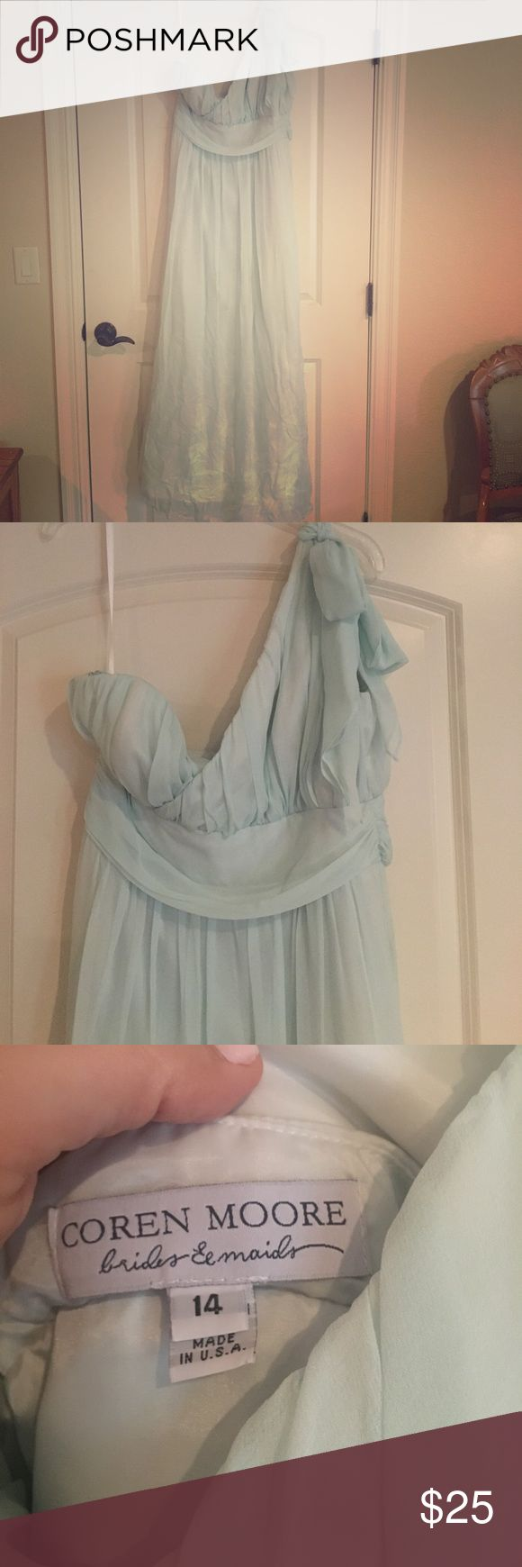 BHLDN dress Soft blue, never worn (wedding didn't happen), not altered . Comes from a clean, smoke free, pet free home. Coren Moore BHLDN Dresses