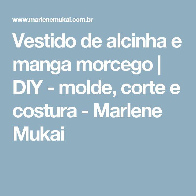 Vestido de alcinha e manga morcego | DIY - molde, corte e costura - Marlene Mukai
