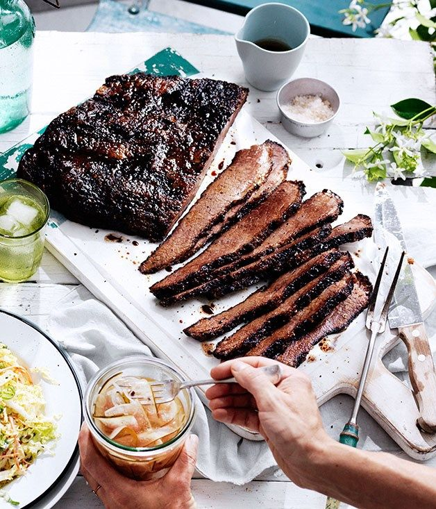 12-hour barbecue beef brisket recipe, Curtis Stone :: Gourmet Traveller