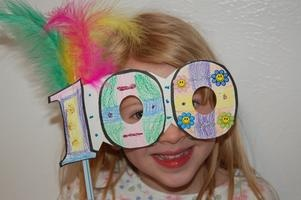 100 Day Masks (with template) @Lisa Webb