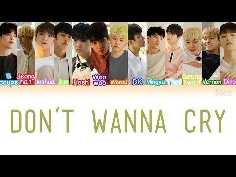 SEVENTEEN - DON'T WANNA CRY (울고 싶지 않아) Lyrics (Color