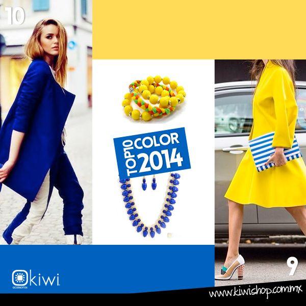 Top 10 de los colores para la próxima temporada que no pueden faltar en tu guardarropa. 10: Azul deslumbrante  9: Freesia Amarillo