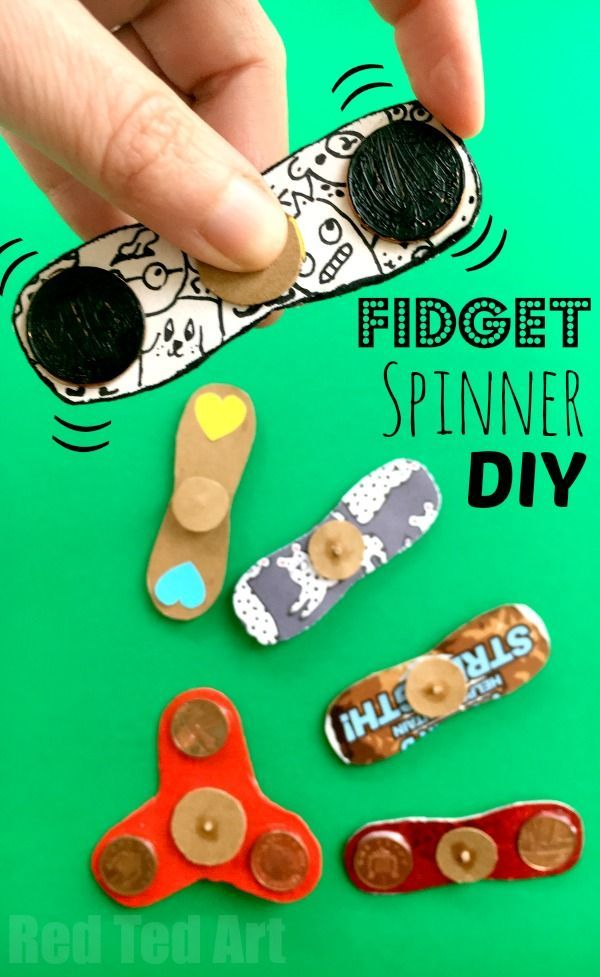 How to Make a Fidget Spinner DIY without bearings. Fidget Spinner DIY - how to make a fidget spinners. If the Hand Spinner Fidget Toy craze has hit your home.. and you either can't or won't buy one of the kids.. or maybe your fidget spinner is stuck in the post somewhere.. why not have a go at this DIY Fidget Spinner craft. It really costs just pennies to make and is ALMOST as good as the real thing. Great Summer Craft too!