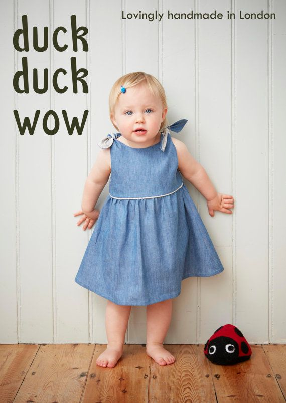 Chambray tie top dress. Classic styling for your toddler by duck duck wow.