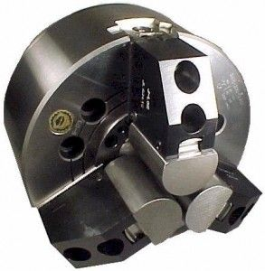 Bison chuck with special aluminum soft jaws