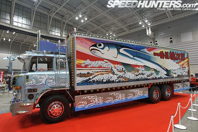 Truck from a Japanese Movie (70s) 'Truck Rascals'.  Love the fish!