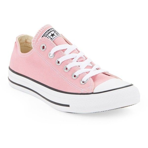 Converse Ox Daybreak Lace-Up Sneakers (€51) ❤ liked on Polyvore featuring shoes, sneakers, pink, pink sneakers, laced shoes, converse sneakers, lace up sneakers and converse shoes