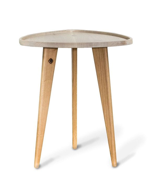 "Oak Table ""TRIPOD"", Sofa Table, Wood Working"