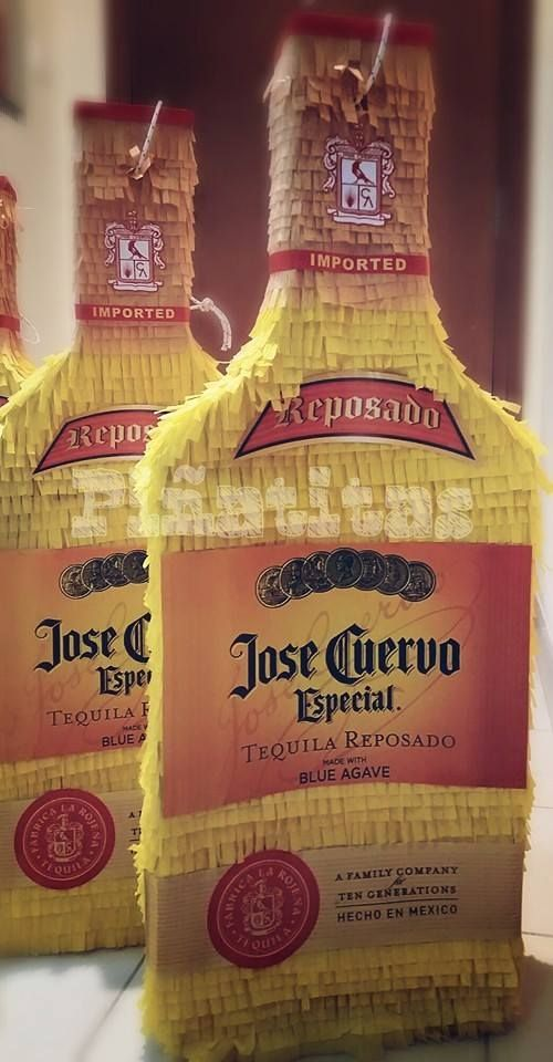 Tequila bottles - pinata Jose Cuervo - corporate party