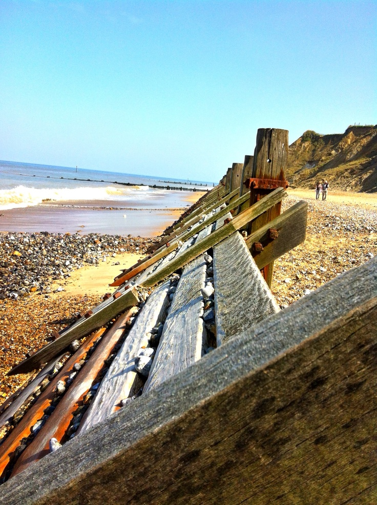 Overstrand beach-another lovely unspoilt beach in North Norfolk & you can walk to Cromer for fish & chips along the beach