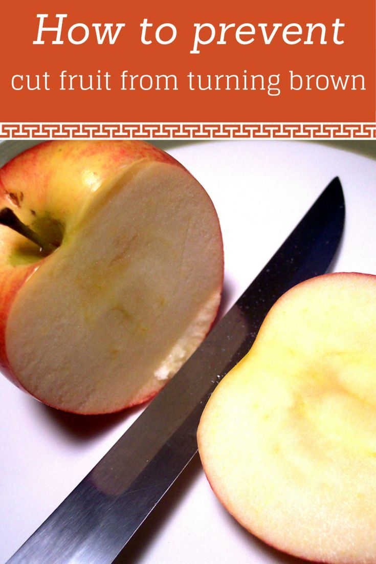 How to prevent cut fruit from turning brown. #NebExt