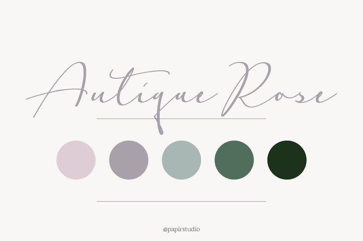 Antique Rose color palette // pink, green, blush, wedding, branding, inspiration