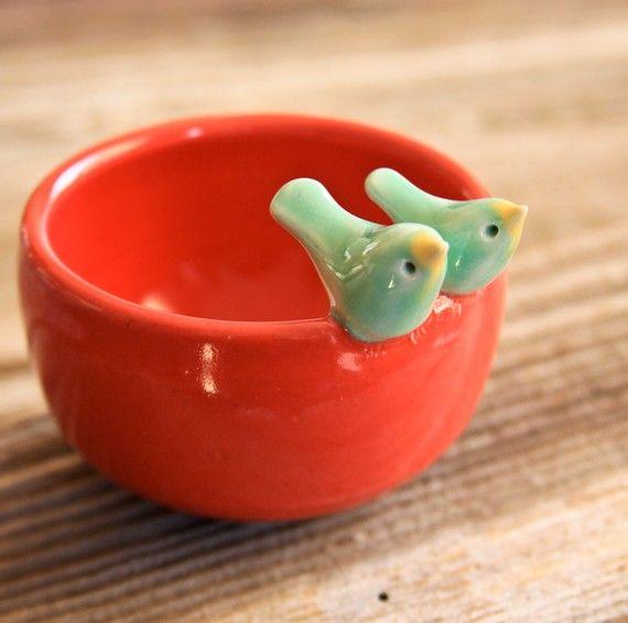 Birdie handmade pottery.