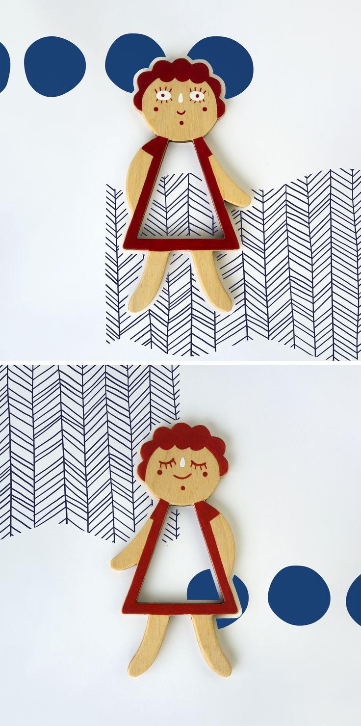 Nina. Telepapu wooden doll