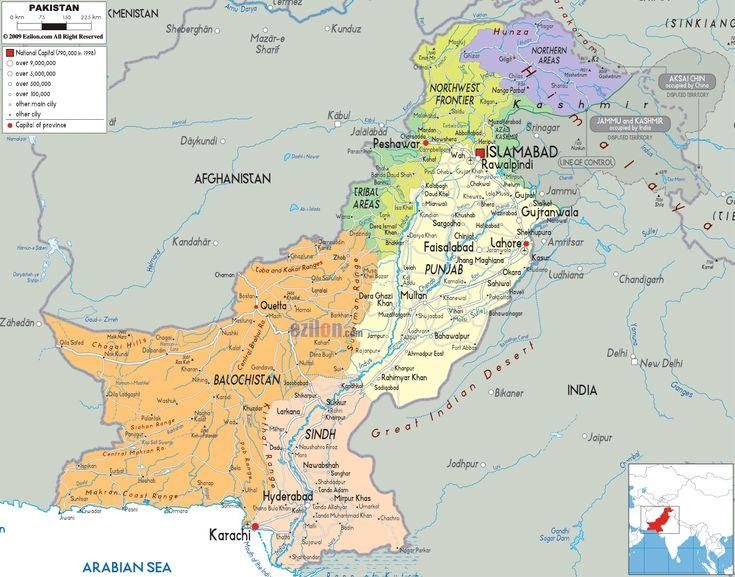 Map of Pakistan and Pakistan Political Map