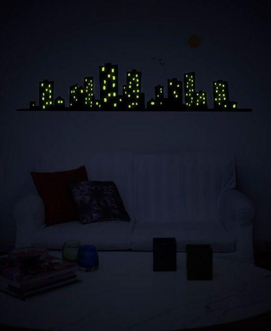 Cute Glow In The Dark Stickers By Gecko Wall Decor