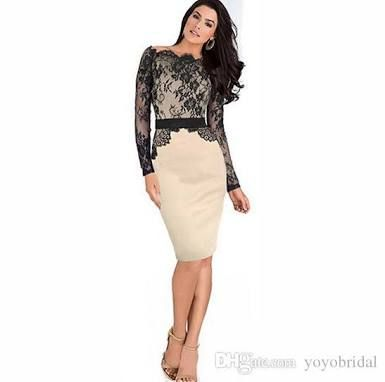 Image result for knee length dress 2016