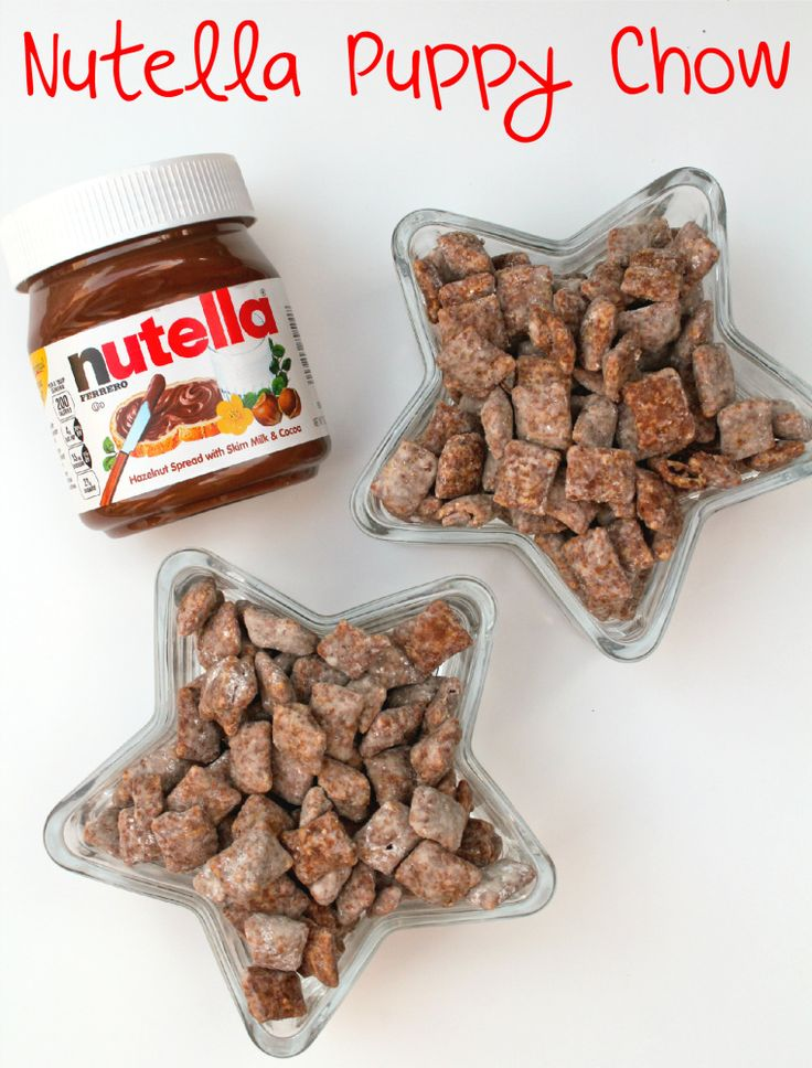 Nutella Puppy Chow! This is so not good for my diet. And I find myself not caring.