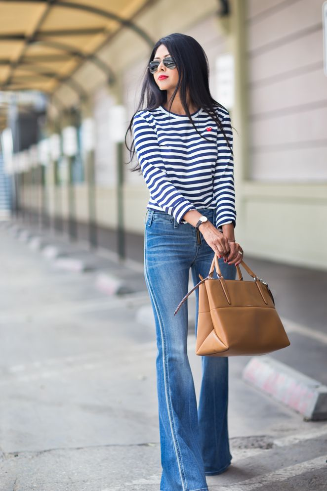 Style it with CAbi! Bengal Stripe Tee and Malibu Flare ...