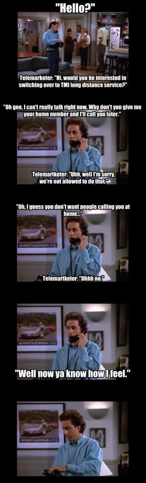 How to deal with telemarketers.