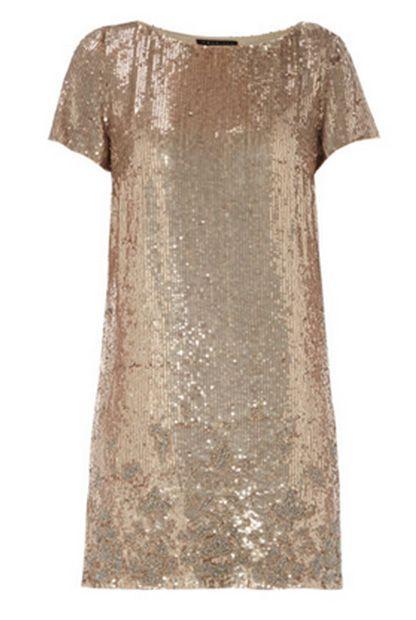Kleid mit Pailletten von Twinset, um 400 Euro