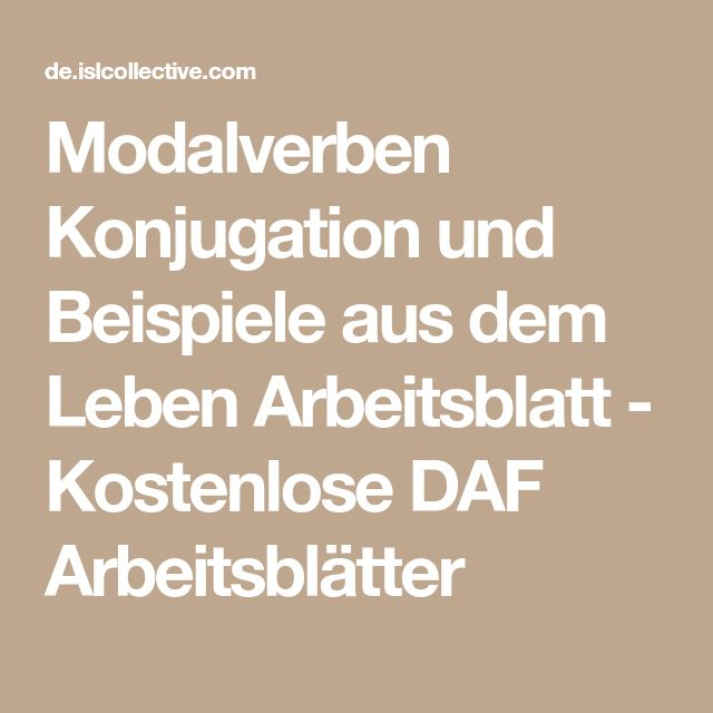 125 best MODALVERBEN 2 images on Pinterest | Learn german, German ...