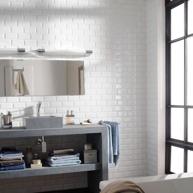 17 meilleures images propos de salle de bains sur pinterest petite salle - Revetement mural salle de bain castorama ...