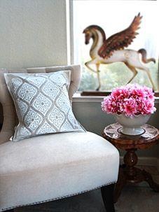 Vanilla Glacé ~ White Gold Romantic Elegant Luxury Throw Pillow