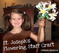 St. Joseph Feast Day ~ Flowering Staff Craft - Catholic Inspired