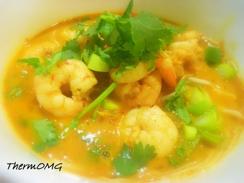 Thai Coconut Prawn and Noodle Soup — ThermOMG