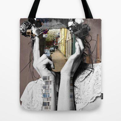 Crazy Woman - Lara Lisa Bella Tote Bag by Marko Köppe - $22.00