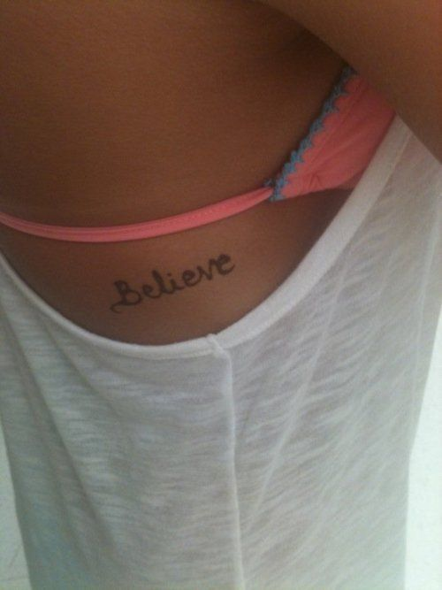 loveeee: Tattoo Ideas, Tattoo Placements, Ribs Tattoo, Get A Tattoo, Tattoo Fonts, Side Tattoo, Believe Tattoo, Little Tattoo, Cute Tattoo