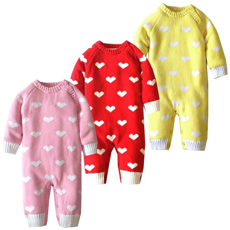 29.98$  Buy here - http://alirdf.shopchina.info/go.php?t=32789486021 - Winter Baby Rompers Plus Velvet Warm Heart-Shaped Baby Clothes 100% Cotton Newborn Boy Romper Infant Girl Costumes  #aliexpresschina